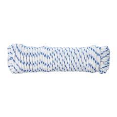 Snur din polipropilena, 6 mm x 20 m, alb albastru