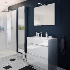 Dulap suspendat cu oglinda, alb, 90 x 40 x 15 cm - Imandra