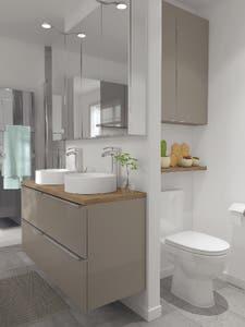 Dulap suspendat cu oglinda,alb, 90 x 60 x 15 cm - Imandra