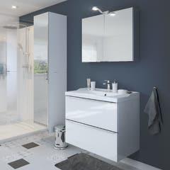 Dulap suspendat cu oglinda, alb, 90 x 40 x 35 cm - Imandra