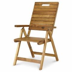 Scaun  maro, lemn acacia, 76.5 x 86 x 107 cm • Blooma