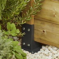 Baza de stalp din lemn pentru fixare Neva, 7 x 7 cm, gri