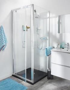 Usa dus pivotanta, aluminiu si sticla, cromat, 80 x 190 cm • Good Home Onega