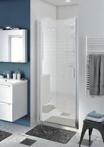 Usa dus pivotanta, aluminiu si sticla, cromat, 90 x 195 cm, garantie 10 ani • Good Home Beloya_100266280