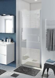 Usa dus pivotanta, aluminiu si sticla, cromat, 90 x 195 cm, garantie 10 ani • Good Home Beloya_100266214