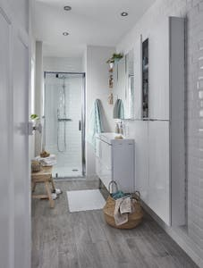 Usa dus pivotanta, aluminiu si sticla, cromat, 80 x 195 cm, garantie 10 ani • Good Home Beloya_100266216