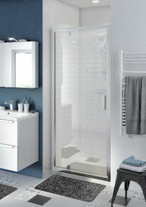Usa dus pivotanta, aluminiu si sticla, cromat, 90 x 195 cm, garantie 10 ani • Good Home Beloya_100266217