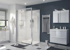 Usa dus pivotanta, aluminiu si sticla, cromat, 120 x 195 cm, garantie 10 ani • Good Home Beloya_100596892