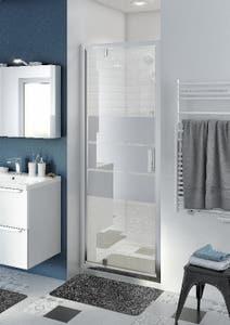 Usa dus pivotanta, aluminiu si sticla, cromat, 80 x 195 cm, garantie 10 ani • Good Home Beloya_100266219