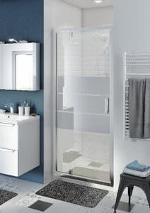 Usa dus pivotanta, aluminiu si sticla, cromat, 90 x 195 cm, garantie 10 ani • Good Home Beloya