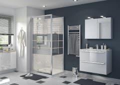 Usa dus pivotanta, aluminiu si sticla, cromat, 100 x 195 cm, garantie 10 ani • Good Home Beloya_100266221