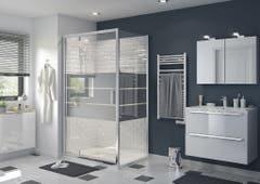 Usa dus pivotanta, aluminiu si sticla, cromat, 120 x 195 cm, garantie 10 ani • Good Home Beloya