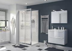 Usa dus culisanta, aluminiu si sticla, cromat, 100 x 195 cm, garantie 10 ani • Good Home Beloya_100266232