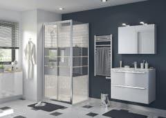 Usa dus culisanta, aluminiu si sticla, cromat, 100 x 195 cm, garantie 10 ani • Good Home Beloya