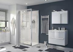 Perete dus, aluminiu si sticla, cromat, 70 x 195 cm, garantie 10 ani • Good Home Beloya