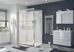 Perete dus, aluminiu si sticla, cromat, 80 x 195 cm, garantie 10 ani • Good Home Beloya_100266237