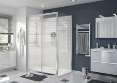Perete dus, aluminiu si sticla, cromat, 90 x 195 cm, garantie 10 ani • Good Home Beloya_100266238