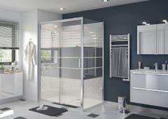 Perete dus, aluminiu si sticla, cromat, 90 x 195 cm, garantie 10 ani • Good Home Beloya