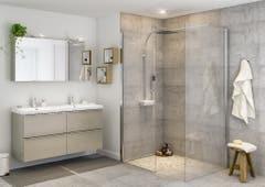 Paravan dus walk-in, aluminiu si sticla, cromat, 87.5 x 195 cm, garantie 10 ani • Good Home Beloya_100266249