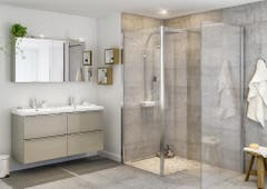 Paravan dus walk-in, aluminiu si sticla, cromat, 85 x 195 cm, garantie 10 ani • Good Home Beloya_100266251