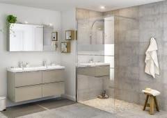 Paravan dus walk-in, aluminiu si sticla, cromat, 120 x 195 cm, garantie 10 ani • Good Home Beloya