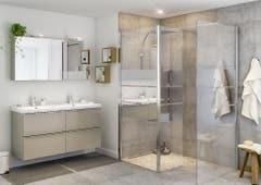 Paravan dus walk-in, aluminiu si sticla, cromat, 125 x 195 cm, garantie 10 ani • Good Home Beloya