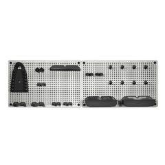 Set 18 accesorii si organizator de perete Links gri si negru