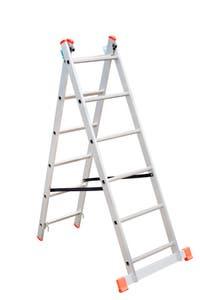 Scara aluminiu, 2 x 6 trepte,  total 3 m