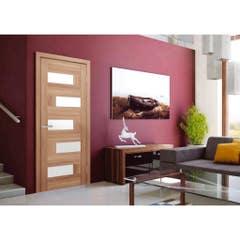 Foaie usa interior PVC reversibila Domino, 80 x 200 cm, stejar auriu