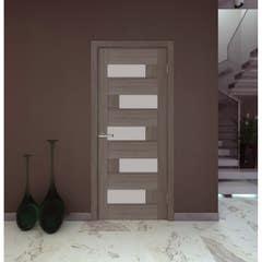 Foaie usa interior PVC reversibila Domino, 80 x 200 cm, cm, mocha