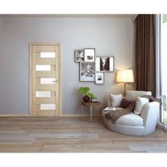 Foaie usa interior PVC reversibila Domino, 80 x 200 cm, cm, stejar alb