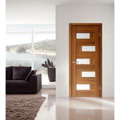 Foaie usa interior PVC reversibila Domino, 80 x 200 cm, cm, anin