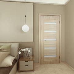 Foaie usa interior PVC reversibila Milena, 80 x 200 cm, stejar alb