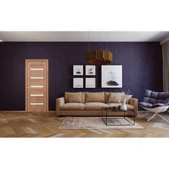 Foaie usa interior PVC reversibila Milena, 80 x 200 cm, stejar auriu