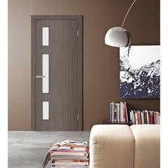 Foaie usa interior PVC reversibila Solo, 80 x 200 cm, mocha