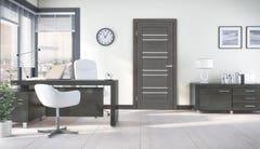 Foaie usa interior, reversibila, 200 x 80 cm, gri • Rino