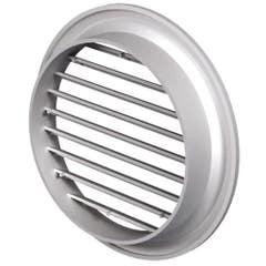 Grila ventilatie rotunda din plastic, 125 mm, alb