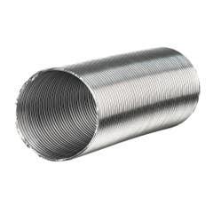 Tub flexibil hota evacuare, aluminiu, 100 mm x 1-3 m, argintiu