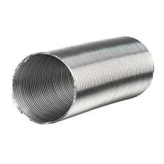 Tub flexibil hota evacuare, aluminiu, 150 mm x 1-3 m, argintiu