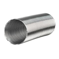 Tub flexibil hota evacuare, aluminiu, 125 mm x 1-3 m, argintiu