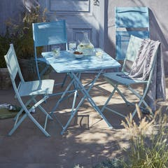 Masa de gradina, patrata, albastru, 70 cm • GoodHome Saba