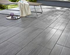 Gresie exterior, gri, incaperi multiple, 60 x 308 mm, 1.24 mp/cutie • Stripe