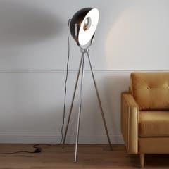Lampadar, negru si argintiu, 1 x (E27) - Selinda
