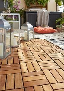 Dala terasa, lemn, 30 x 30 x 2.4 cm • GoodHome Lempa