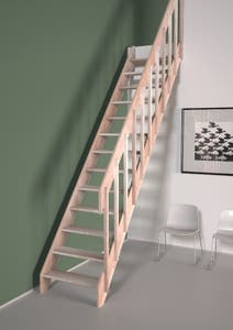 Balustrada scara cu balustri, lemn