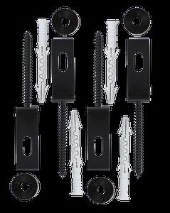 Conector tip O, set 2 buc., negru, 18 x 10 x 3 cm • Polbram