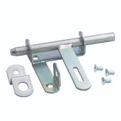 Lacat superior galvanizat, gri, 15 x 10 x 2.5 • Polbram