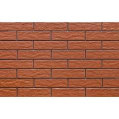 Placa pentru fatada Red Rustical, 24.5 x 6.5 x 0.65 cm rosu, 0.5 mp/cutie
