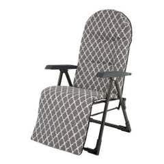 Scaun camping cu suport picioare, gri