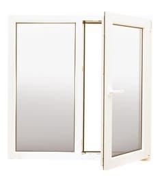 Fereastra PVC, termopan, alb, 3 camere, 2 geamuri, 116 x 116 cm, deschidere stanga